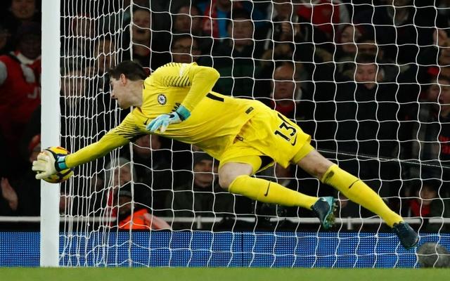 Courtois Chelsea save vs Arsenal