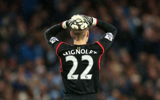 Mignolet mistake Liverpool