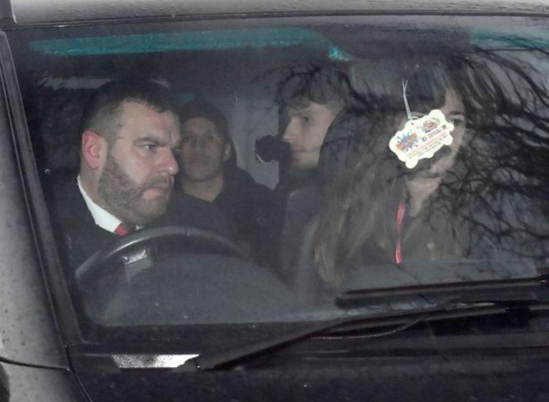 Alexis Sanchez arrives at Carrington ahead of his Manchester United medical