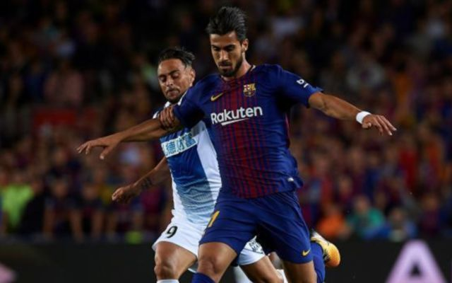 Barcelona midfielder Andre Gomes