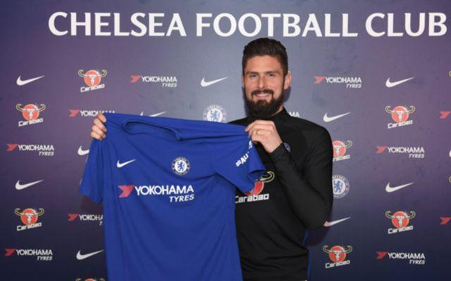 New chelsea signing Olivier Giroud