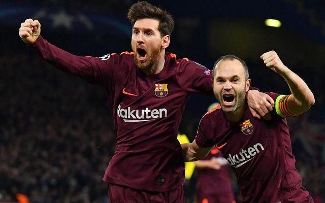 Barcelona Messi Iniesta vs Chelsea