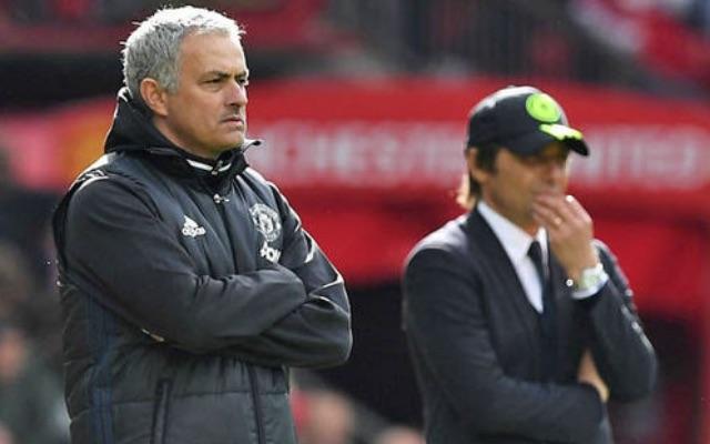 Jose Mourinho and Antonio Conte in Manchester United vs Chelsea