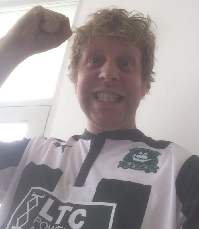 Josh Widdicombe is one of Plymouth Argyle's most famous fans