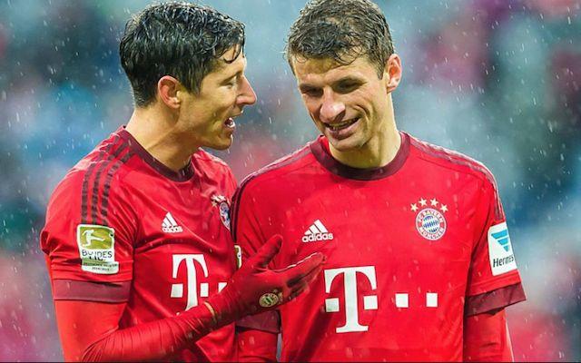 Lewandowski and Muller Bayern Munich