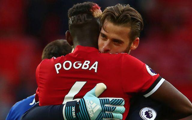 De Gea and Pogba Manchester United