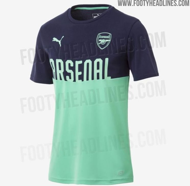 24edfa7ed6b Arsenal new kit  2018 19 third strip from Puma looks dire