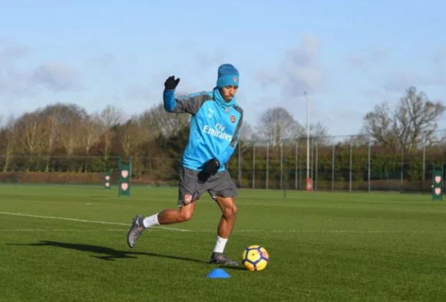 aubameyang arsenal training