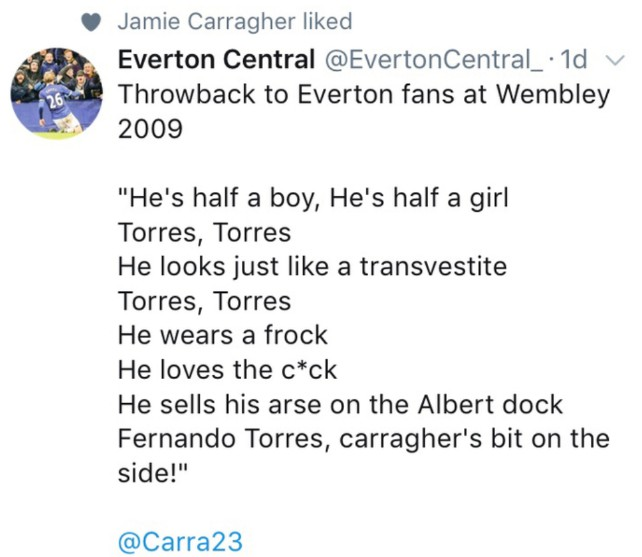 carragher song