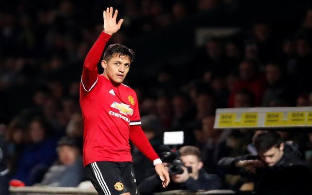 Man United winger Alexis Sanchez