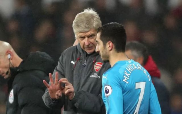 Henrikh Mkhitaryan and Arsene Wenger. Atletico Madrid vs Arsenal starting lineup