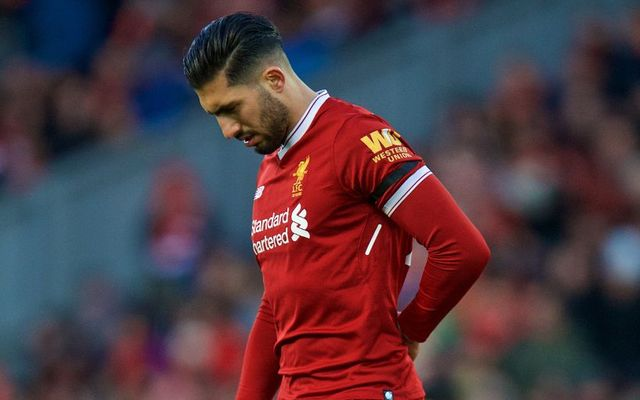 Emre Can injury Liverpool