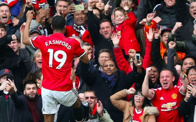 Rashford Man Utd celebrate