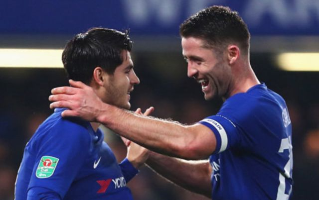 Chelsea duo Gary Cahill and Alvaro Morata