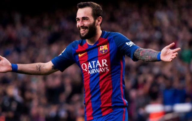 Barcelona defender Aleix Vidal