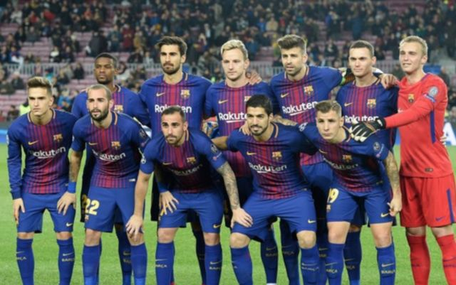 Barcelona squad Digne Gomes Alcacer Suarez VIdal