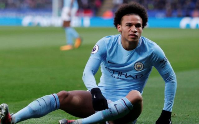 Man City player Leroy Sane