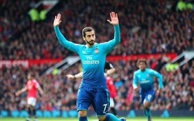 Mkhitaryan Arsenal celebration vs Man Utd
