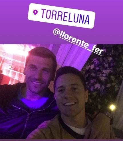 Fernando Llorente and Ander Herrera on holiday