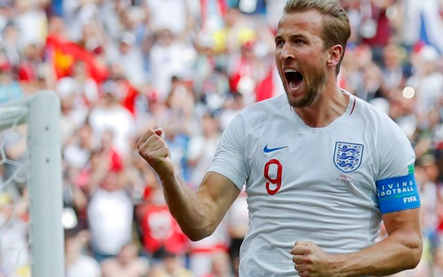 Kane celebrates England Panama. Who could England face in the World Cup 2018 last 16?