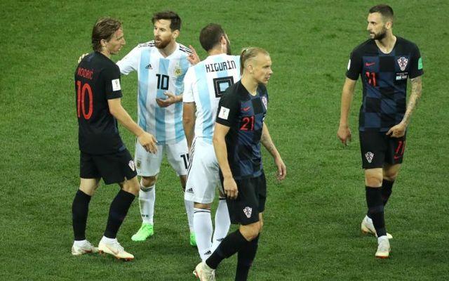 Modric Messi Argentina Croatia