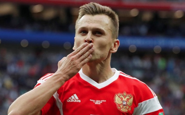 Denis Cheryshev in action for Russia