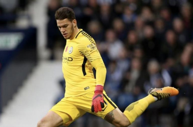 Man City keeper Ederson is excellent with his feet