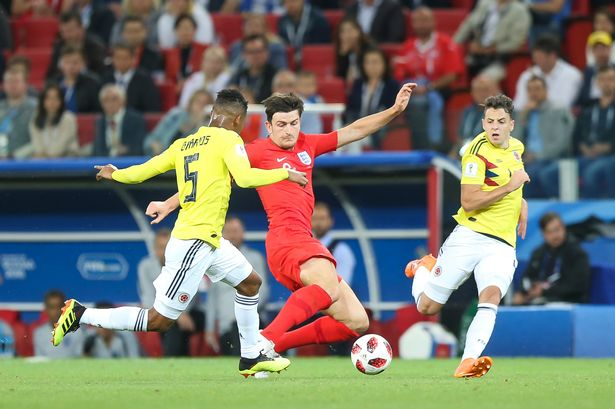 Harry Maguire vs Colombia
