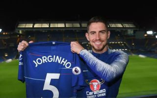 new product d4d02 b2045 Photo) Jorginho reveals Chelsea squad number as he holds up ...