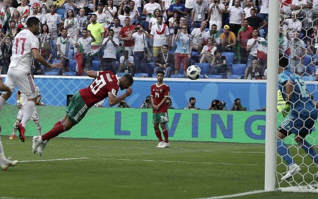 Morocco's Aziz Bouhaddouz scores World Cup own goal