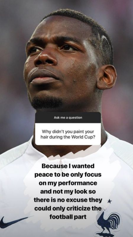 Pogba on hairstyle at World Cup