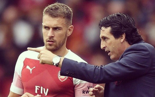 Aaron Ramsey and Arsenal boss Unai Emery