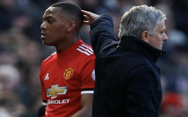 Martial and Mourinho