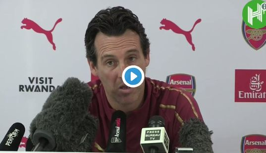 Arsenal manager Unai Emery on Carabao Cup funny video