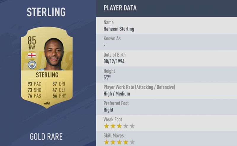 fifa 19 sterling