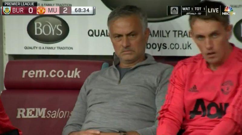 mourinho reaction