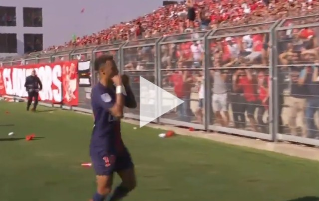Neymar goal celebration for PSG vs Nimes - video