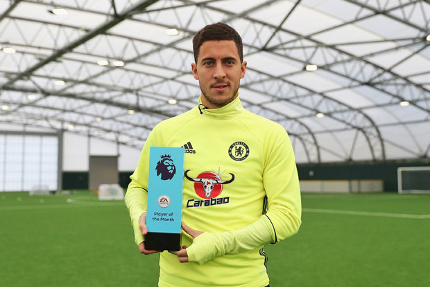 Hazard wins Player of the Month