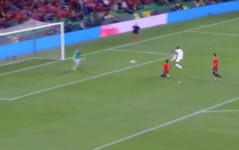 Video: Rashford doubles England's lead against Spain