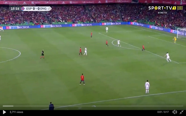 Video: Sterling scores for England after assist from Rashford