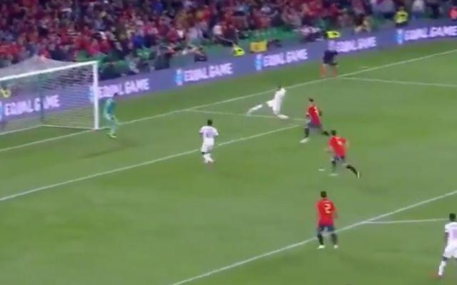 Video: Sterling bags brace as England lead Spain