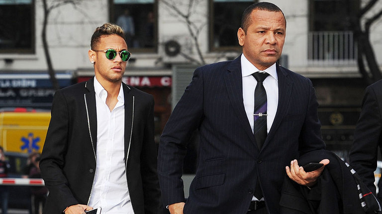 Neymar and his dad