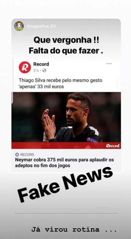 Neymar slams reports as fake news