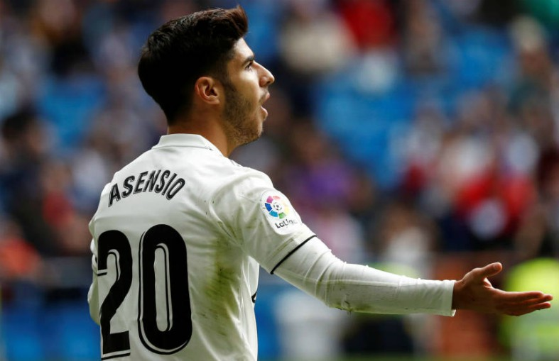 asensio in action for real madrid