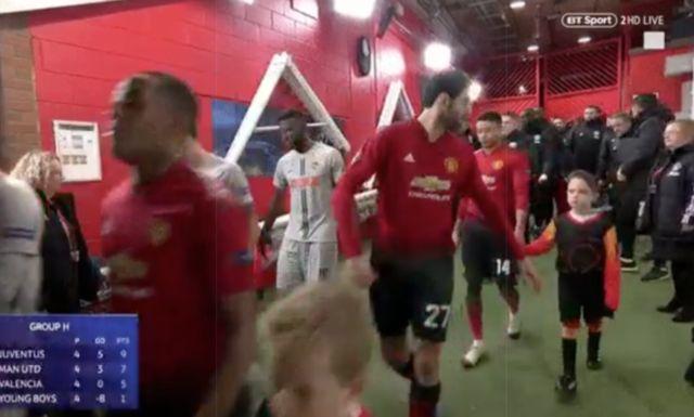 Video: Moment Fellaini loses mascot before Man United clash