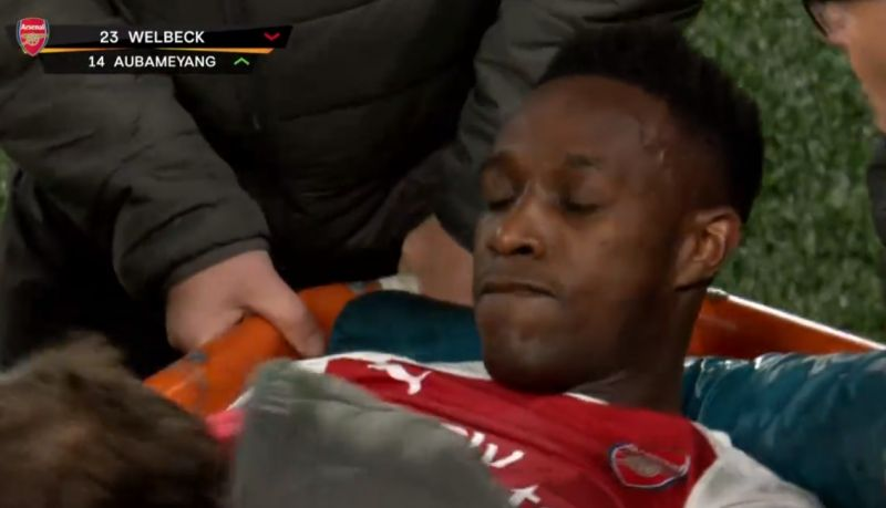 welbeck injury pic