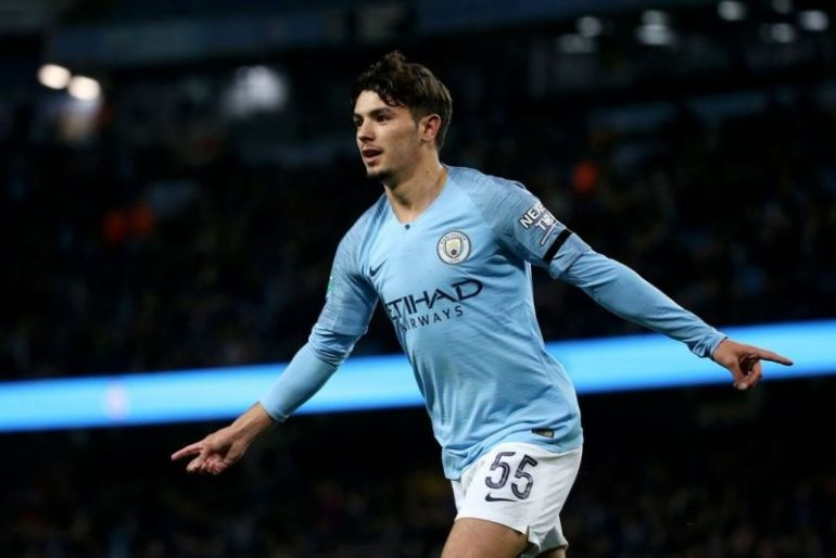 Brahim Diaz celebrating goal