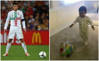 Video Cristiano Ronaldo S Son Mateo Shows Off Skills