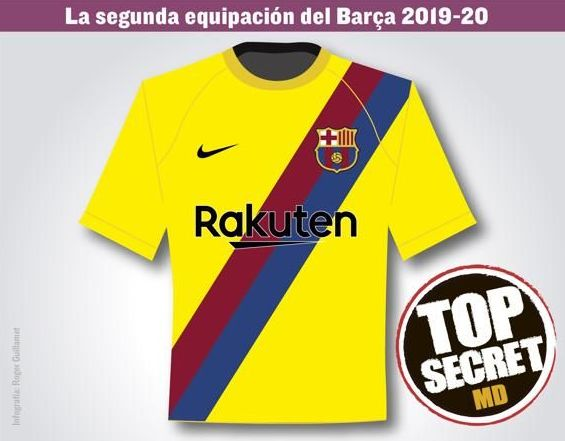 Barcelona 2019/20 new yellow away kit leaked online