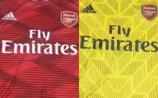 f6442916d (Photo) Arsenal s stunning Adidas 2019 20 home and away kits seemingly  leaked online